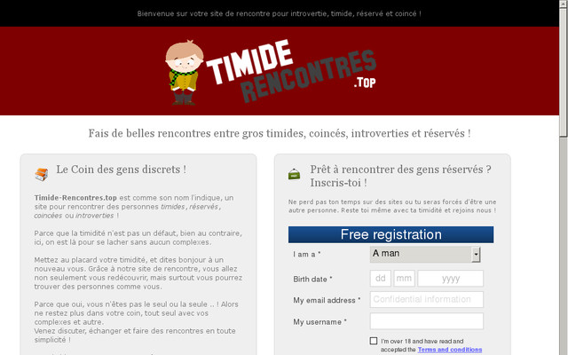site rencontre timide